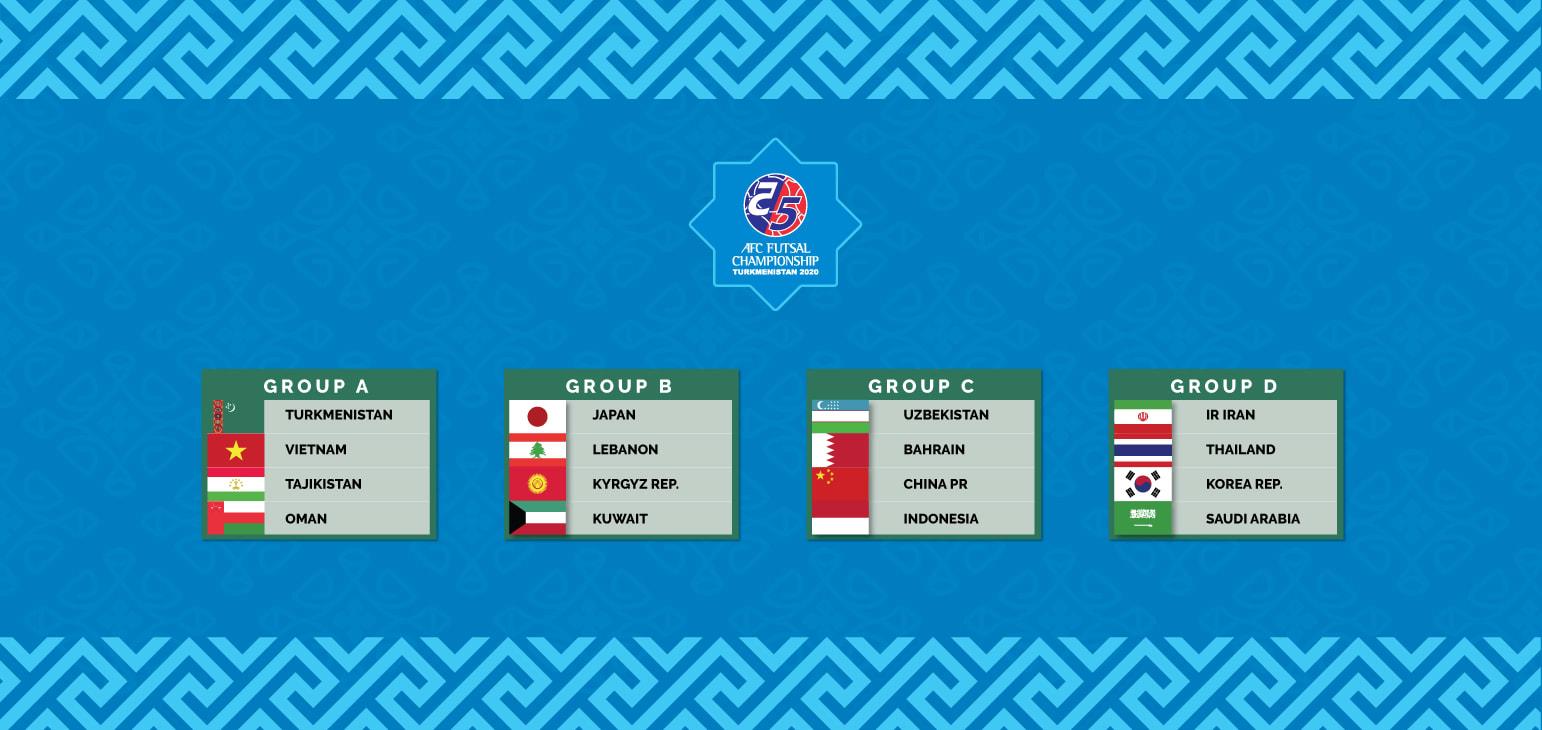 ĐT Futsal Việt Nam rơi vào bảng đấu dễ thở tại VCK Futsal châu Á 2020